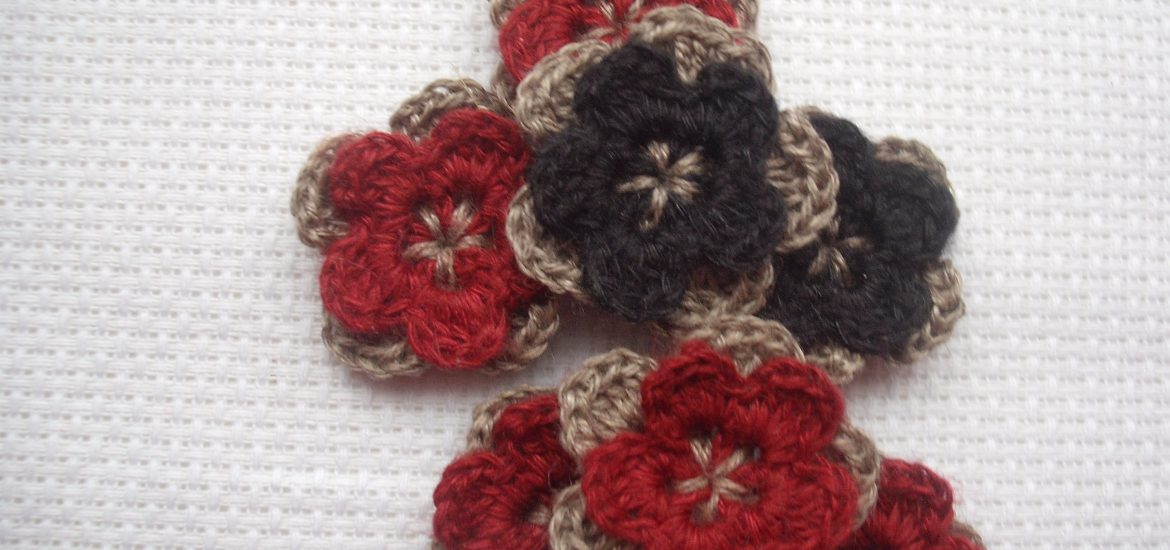Two Layer Crochet Flower Pattern Crochet Flower Patterns